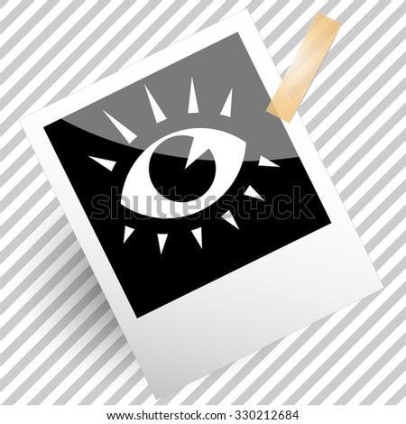 eye. Photoframe. Vector icon. - stock vector