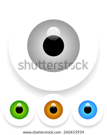 Eye(s) with Shadow(s) Fading Into White - stock vector