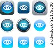 Eye Set of apps icons. Vector illustration. - stock vector