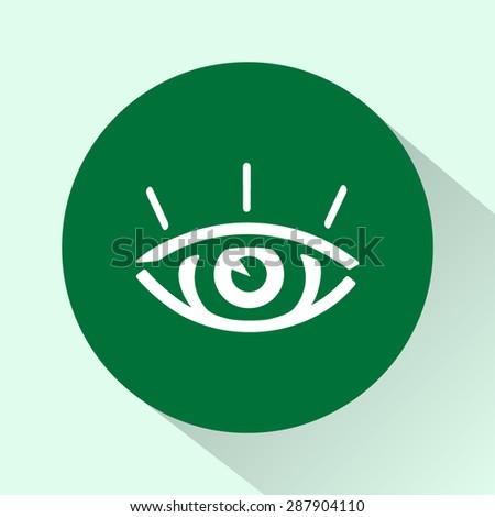 Eye sign icon, vector illustration. Flat design style