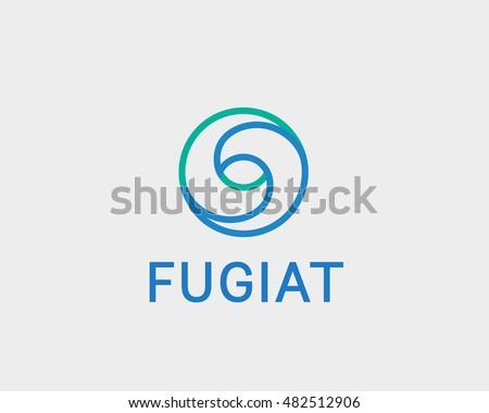 Eye Swirl Spiral Infinity Logo Symbol Stockvector 482512906