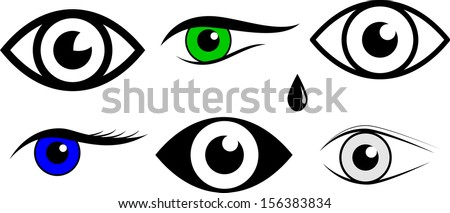 Eye symbols. vector Illustration - stock vector