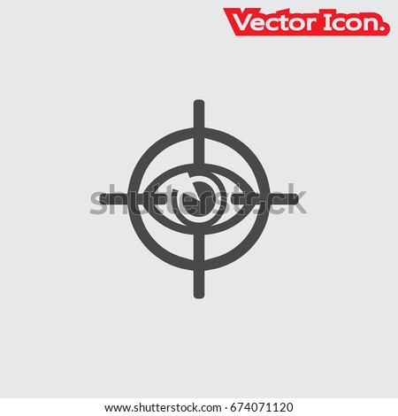Eye Target Icon Isolated Sign Symbol Stock Vector Royalty Free