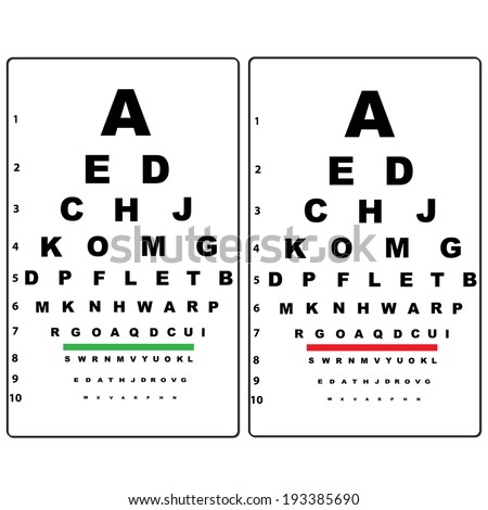 eye test chart  - stock vector
