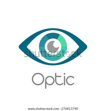 Eye vision vector design template - stock vector