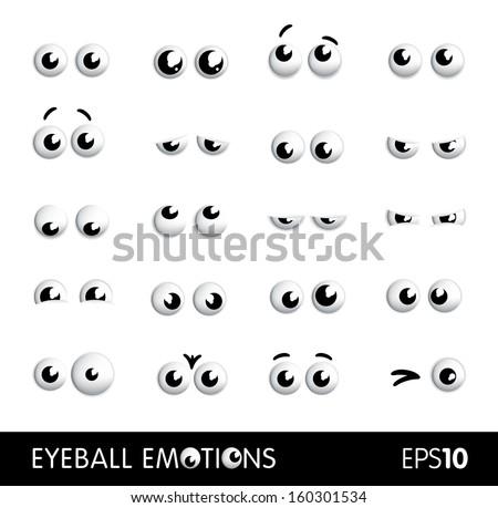 Eyeball emotions - stock vector