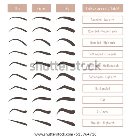 Eyebrow Shapes For Men Chart