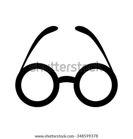 eyeglasses  icon - stock vector