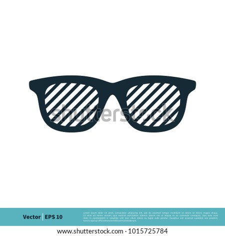 Eyeglasses Icon Vector Logo Template