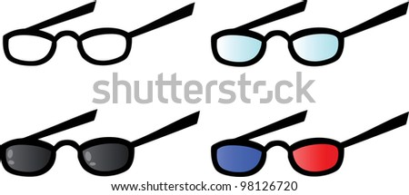 Eyeglasses. Vector Collection