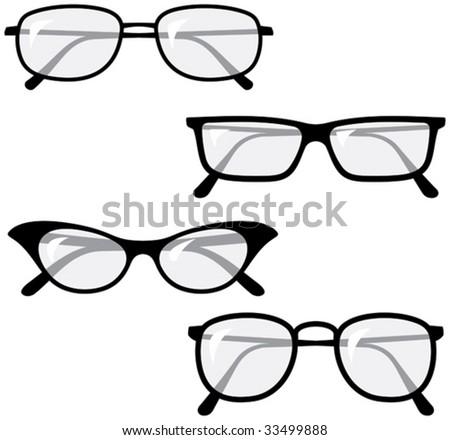 Eyeglasses â?? Vector illustrations - stock vector