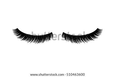 eyelashes vector illustration stock vector 510463600 - shutterstock