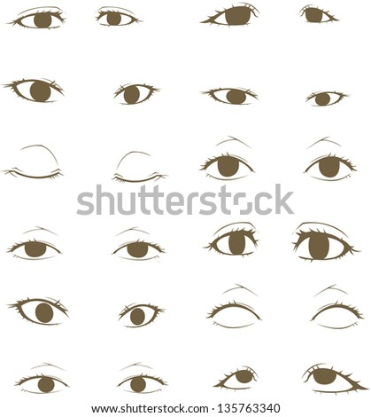 eyes collection, created by vector - stock vector