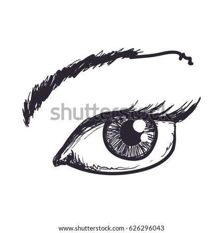 Eye Drawing Stock Images RoyaltyFree Images Vectors Shutterstock