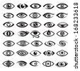 eyes icons - stock photo