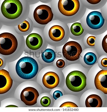 eyes pattern - stock vector