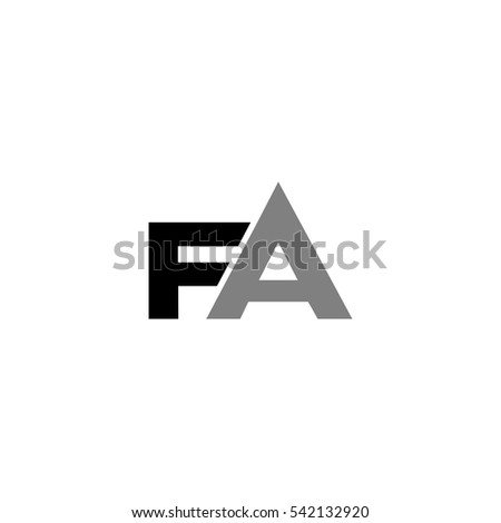F fa letter logo vector stock vector hd royalty free 542132920 f fa letter logo vector thecheapjerseys Image collections
