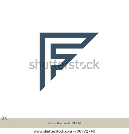 F letter logo template stock vector royalty free 708992740 f letter logo template maxwellsz
