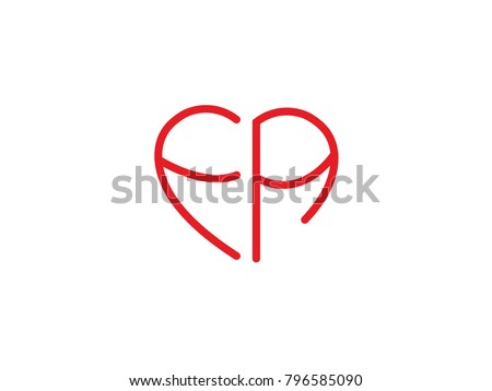 Fa initial logo letter heart shape stock vector hd royalty free fa initial logo letter with heart shape red colored logo design for wedding invitation thecheapjerseys Image collections