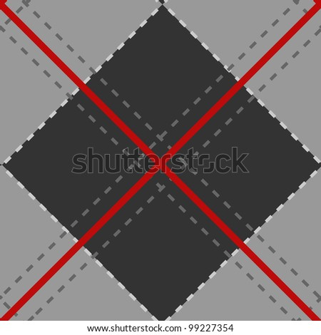 Fabric pattern seamless vector background - stock vector