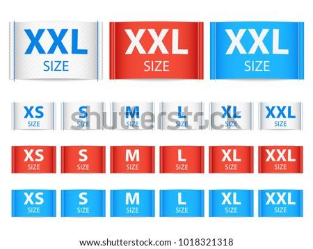 Fabric Ribbon Tags Clothing Label Size Stock-Vektorgrafik 1018321318 ...