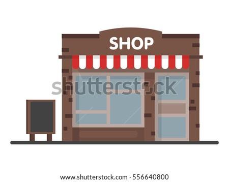 Facade Shop Store Icon Signboard Template Stock Vector 556640800 ...