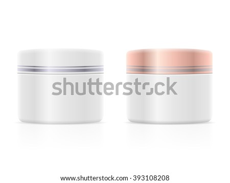 Face cream container on a white background. - stock vector