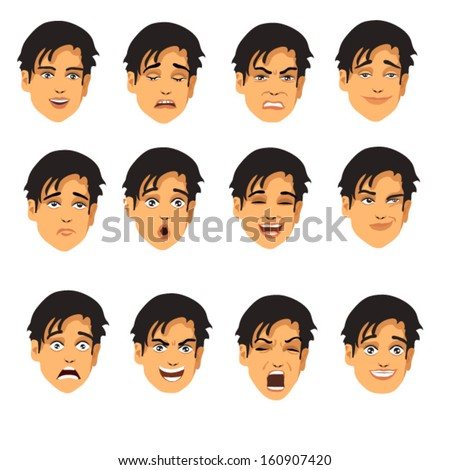 face expressions - stock vector