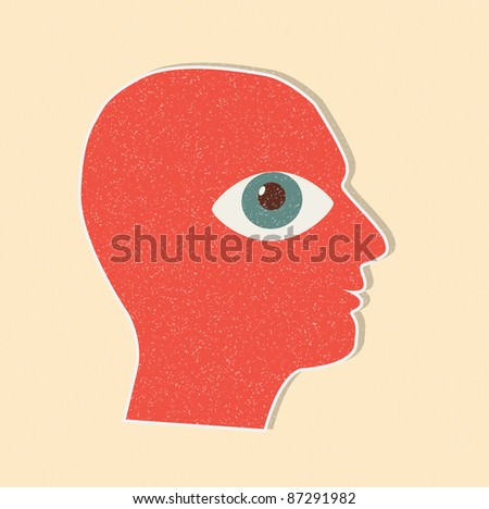 face in profile - stock vector