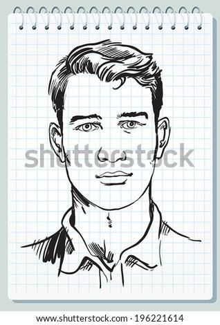 face of a man - stock vector