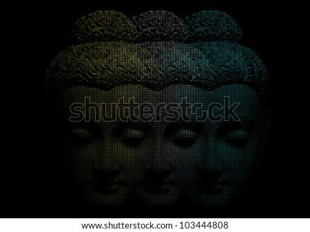 Face Of Buddha.Creative vector - stock vector