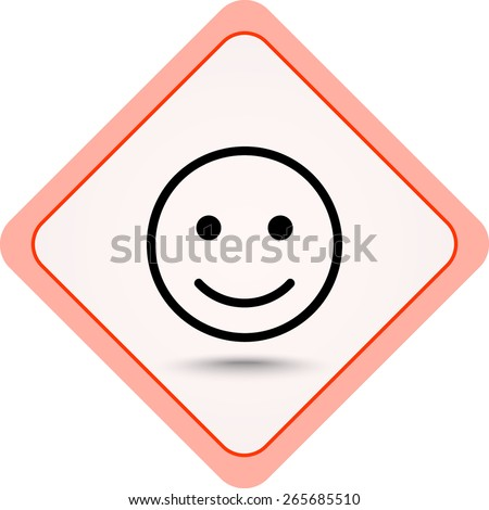 Face sign icon, vector illustration. Flat design style  - stock vector