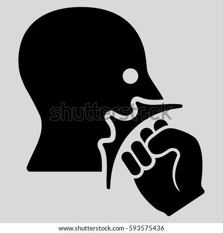 Face Violence Strike Vector Icon Flat Stock Vector Royalty Free