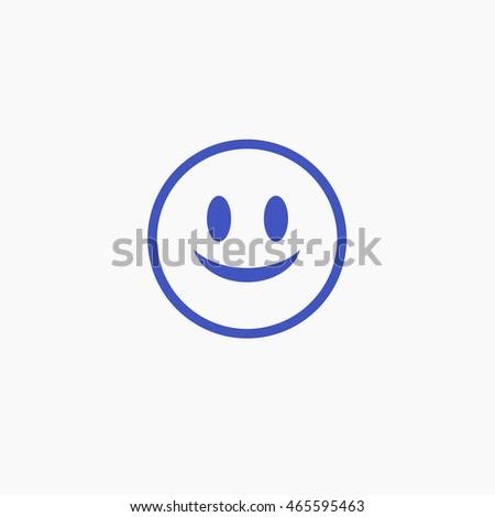 Facebook Smile Emoji Icon Vector Head Stock Vector Hd Royalty Free