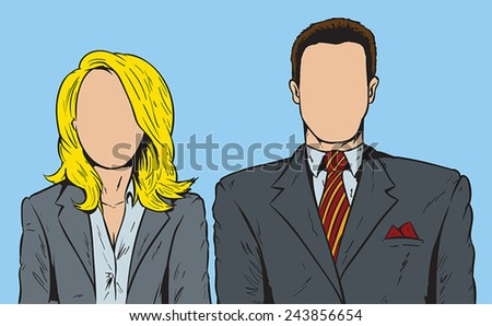 Faceless people - stock vector