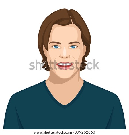 Facial expression: Happy - stock vector