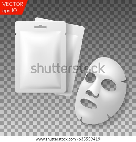 facial mask cosmetics packaging package design stock