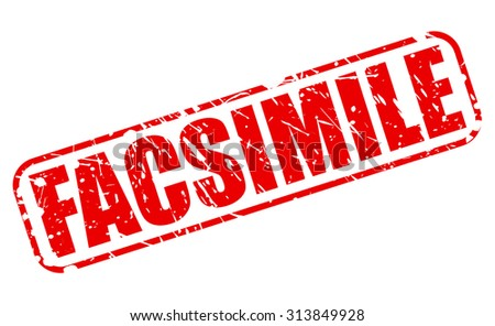 FACSIMILE red stamp text on white - stock vector