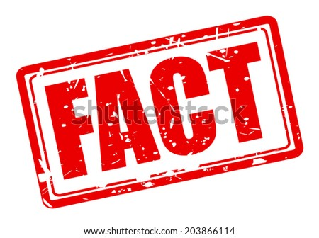 FACT red stamp text on white - stock vector