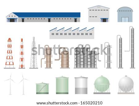 Factory - stock vector