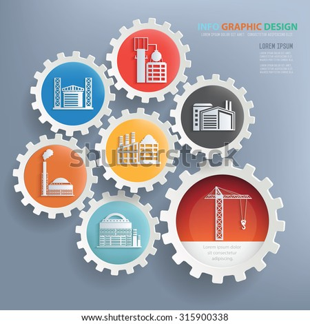 Factory and industry design infographic design,clean vector - stock vector