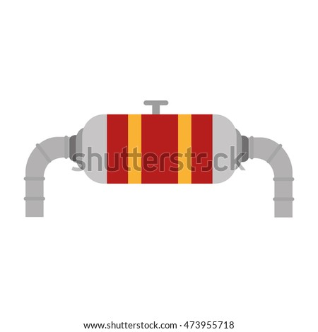 factory and industry plant equipment tap oil structure industrial vector illustration