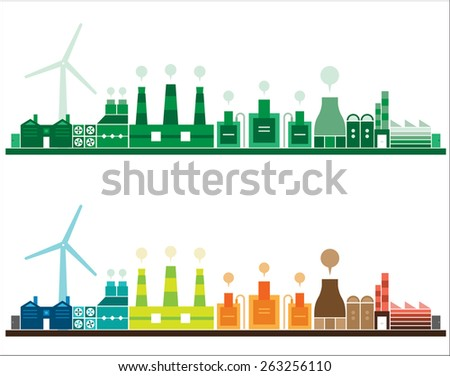 FACTORY BACKGROUND - stock vector
