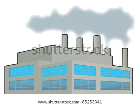 Factory, heavy industry 2 - stock vector