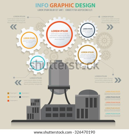 Factory,industry design,info graphic concept,vector - stock vector