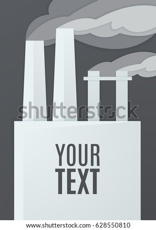 Factory Vector Template Your Design Paper Art Stock Photo (Photo ...