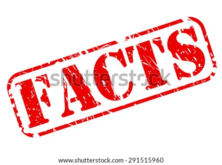 Facts red stamp text on white - stock vector