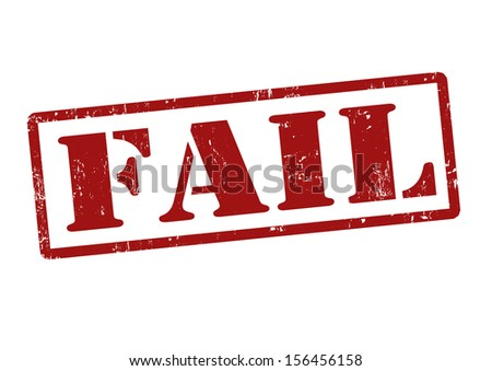 Fail grunge rubber stamp on white, vector illustration - stock vector