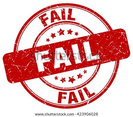 fail red grunge round vintage rubber stamp.fail stamp.fail round stamp.fail grunge stamp.fail.fail vintage stamp. - stock vector