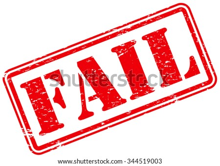 Fail Rubber Stamp Sign Grunge Symbol